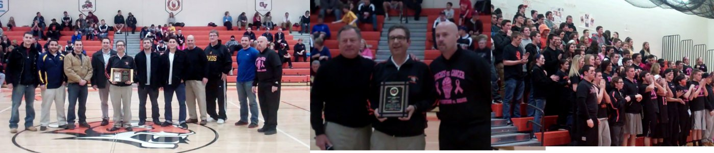 Coach Gionta recognized at MN Basketball game